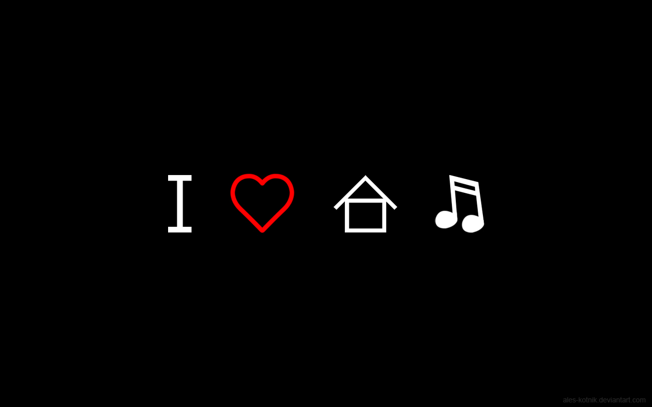 i love house music electro music